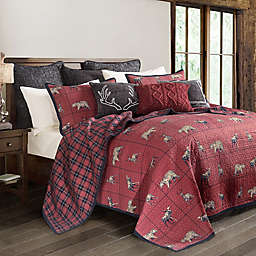 HiEnd Accents Woodland Plaid 3-Piece Reversible Quilt Set