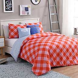 VCNY Home Checker Reversible Comforter Set