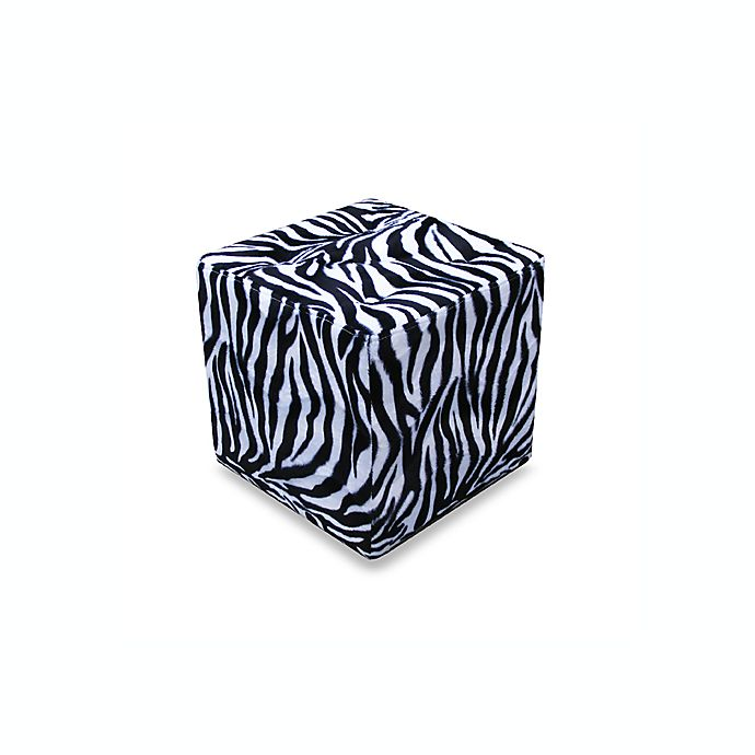 Zebra Print 15 Quot Tufted Top Ottoman Bed Bath Amp Beyond