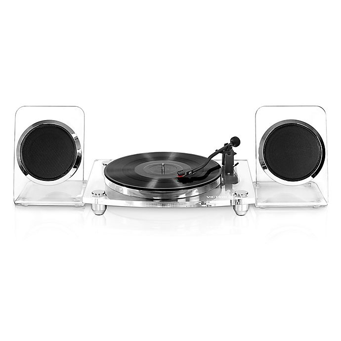 Alternate image 1 for Victrola™ 2-Speed Record Player with Bluetooth® Speakers in Clear
