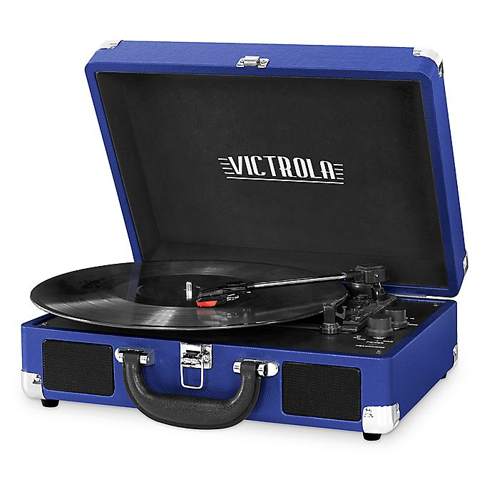 Alternate image 1 for Victrola™ 3-Speed Bluetooth® Portable Suitcase Record Player