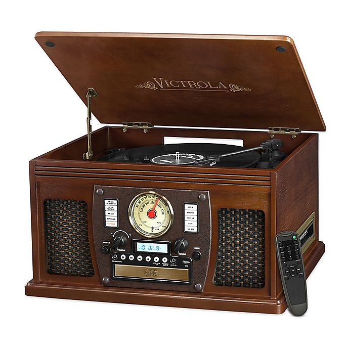Alternate image 1 for Victrola™ 3-speed  8-in-1 Bluetooth Record Player in Espresso