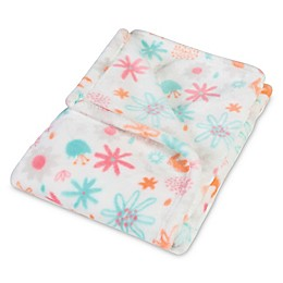 Trend Lab® Coral Floral Plush Baby Blanket