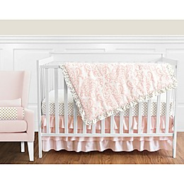 Sweet Jojo Designs Amelia Crib Bedding Collection in Pink/Gold