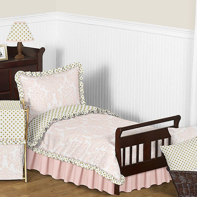 Alternate image 1 for Sweet Jojo Designs Amelia Toddler Bedding Collection in Pink/Gold