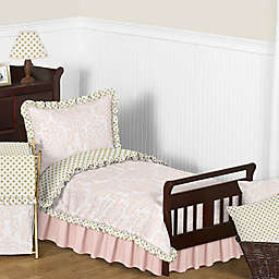 Sweet Jojo Designs Amelia Toddler Bedding Collection in Pink/Gold