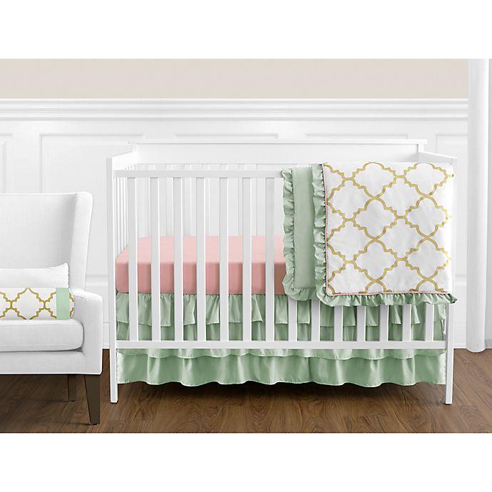 Alternate image 1 for Sweet Jojo Designs Ava 11-Piece Crib Bedding Set in Mint/Coral