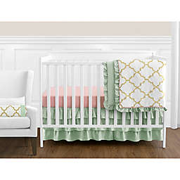 Sweet Jojo Designs Ava Crib Bedding Collection in Mint/Coral