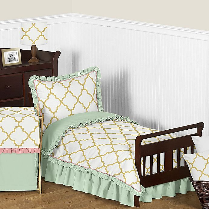 Alternate image 1 for Sweet Jojo Designs Ava 5-Piece Toddler Bedding Set in Mint/Coral