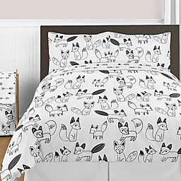 Sweet Jojo Designs® Fox Comforter Set in Black/White