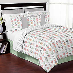 Sweet Jojo Designs Mod Arrow Bedding Collection in Coral/Mint