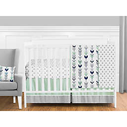 Sweet Jojo Designs Mod® Arrow Crib Bedding Collection in Grey/Mint