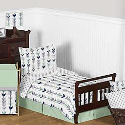 Sweet Jojo Designs Mod Arrow Toddler Bedding Collection in Grey/Mint
