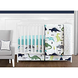 Sweet Jojo Designs Mod Dinosaur 11-Piece Crib Bedding Set in Turquoise/Navy