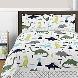 Sweet Jojo Designs Mod Dinosaur Bedding Collection in Turquoise/Navy