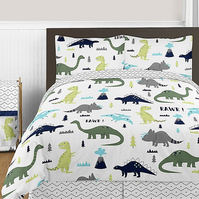 Sweet Jojo Designs Mod Dinosaur Bedding Collection In Turquoise Navy Bed Bath Beyond