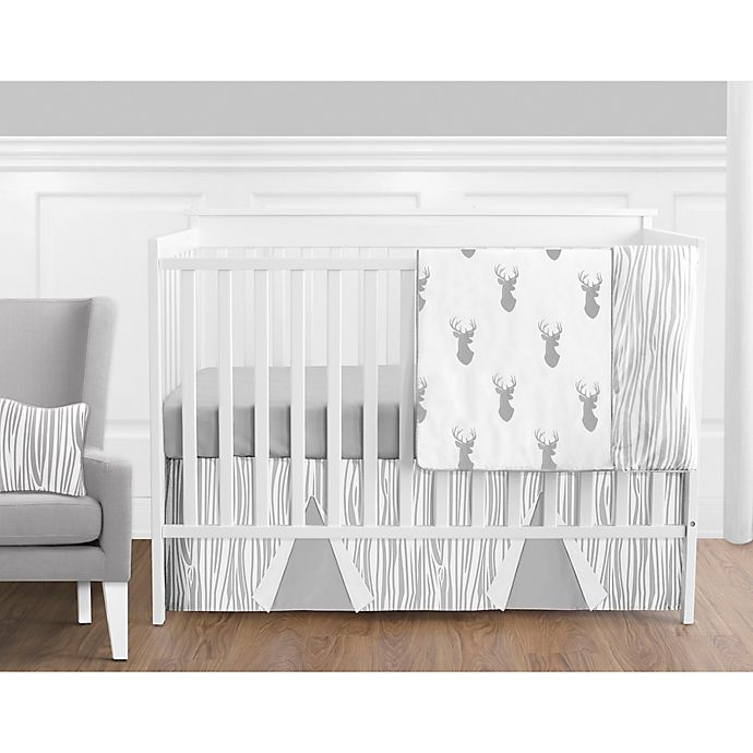 Alternate image 1 for Sweet Jojo Designs Stag 11-Piece Crib Bedding Set in Grey/White
