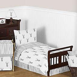Sweet Jojo Designs Stag 5-Piece Toddler Bedding Set in Grey/White