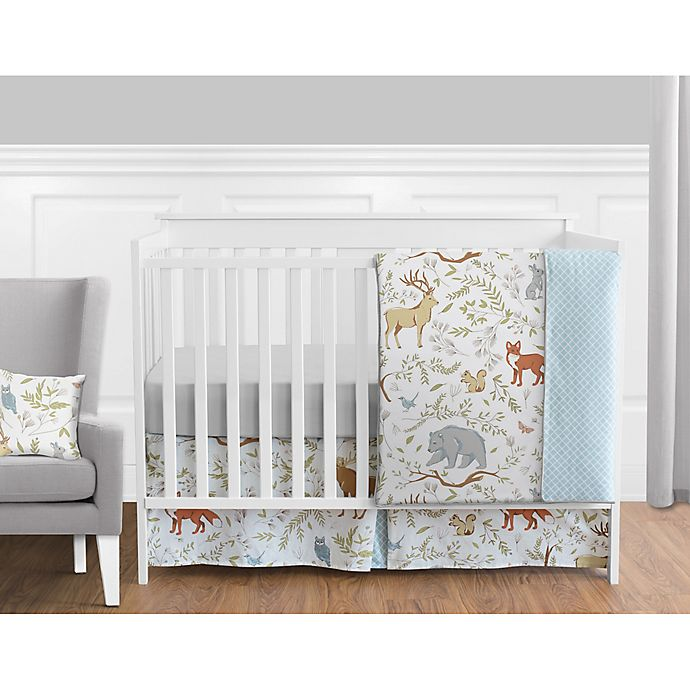 Alternate image 1 for Sweet Jojo Designs Woodland Toile Crib Bedding Collection