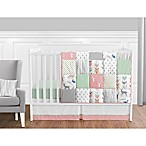 Sweet Jojo Designs Woodsy 11-Piece Crib Bedding Set in Coral/Mint
