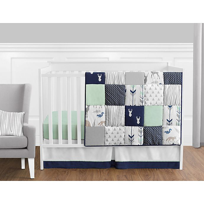 Sweet Jojo Designs Woodsy Crib Bedding Collection In Navy