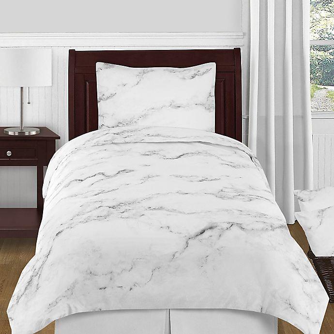 Alternate image 1 for Sweet Jojo Designs Marble 4-Piece Twin Comforter Set in Black/White