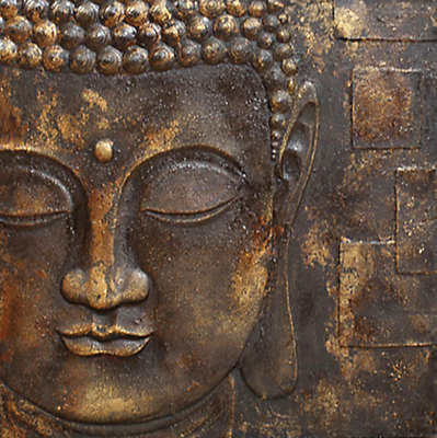 Arthouse Black and Gold Buddha Canvas Wall Art