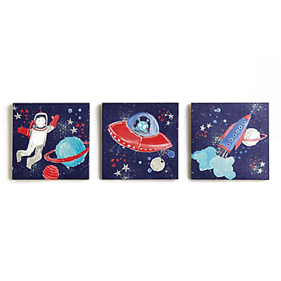 Imagine Fun Starship Canvas Wall Art (Set of 3)