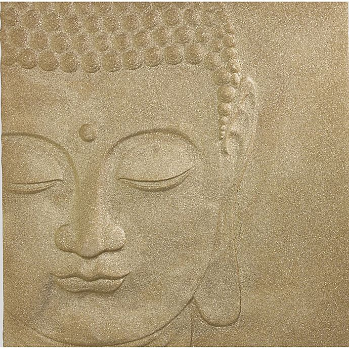 Alternate image 1 for Arthouse 3D Buddha Glitter Canvas