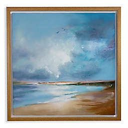 Arthouse Painted Seascape Framed Canvas Wall Art