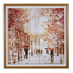 Arthouse Gramercy Park Framed Canvas in Oak