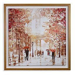 Arthouse Gramercy Park Framed Canvas in Oak