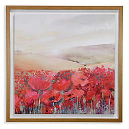 Arthouse Sunset Poppies Framed Canvas Wall Art