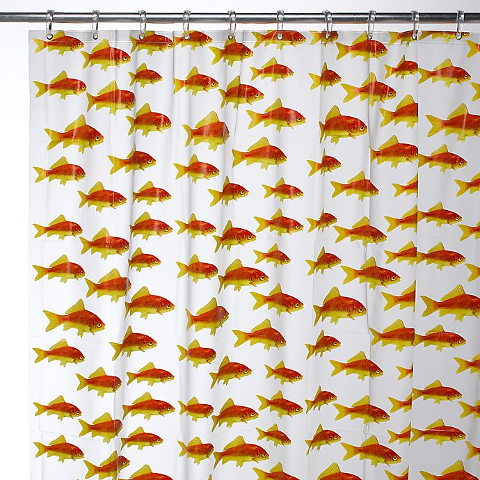 InterDesignR Goldfish 72 Inch X EVA Shower Curtain
