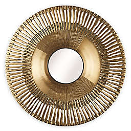 Arthouse 31-Inchx31-Inch Round Sunbeam Wall Mirror in Gold