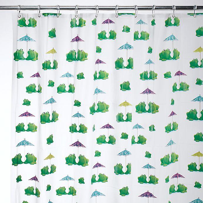 Alternate image 1 for iDesign® Frogs EVA Shower Curtain