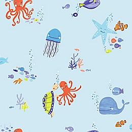 Imagine Fun Underwater Wallpaper in Blue