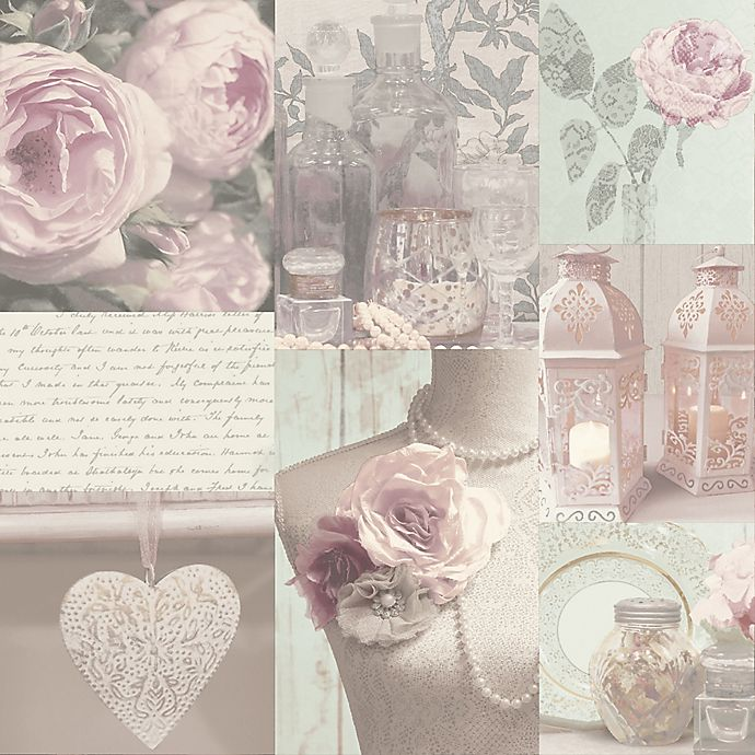 Alternate image 1 for Opera Charlotte Floral and Botanical Wallpaper in Blush