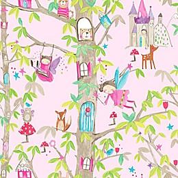Imagine FunWoodland Fairies Wallpaper in Pink