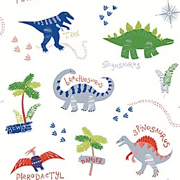 Imagine Fun Dino Doodles Multi Wallpaper