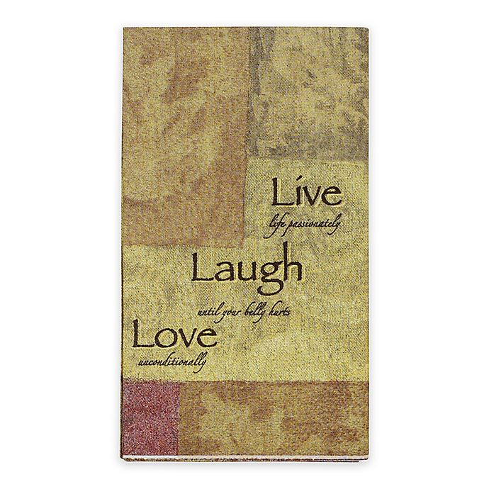Paper Guest Towels Bathroom: Live Love Laugh 16-Count Paper Guest Towels