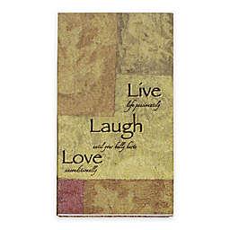 Live Love Laugh 16-Count Paper Guest Towels