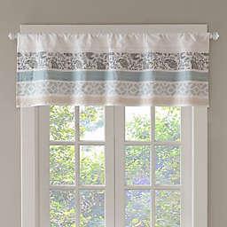 Madison Park Dawn Kitchen Window Valance in Blue