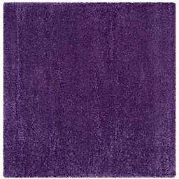 Safavieh Milan Shag 5-Foot 1-Inch x 5-Foot 1-Inch Sienna Rug in Purple