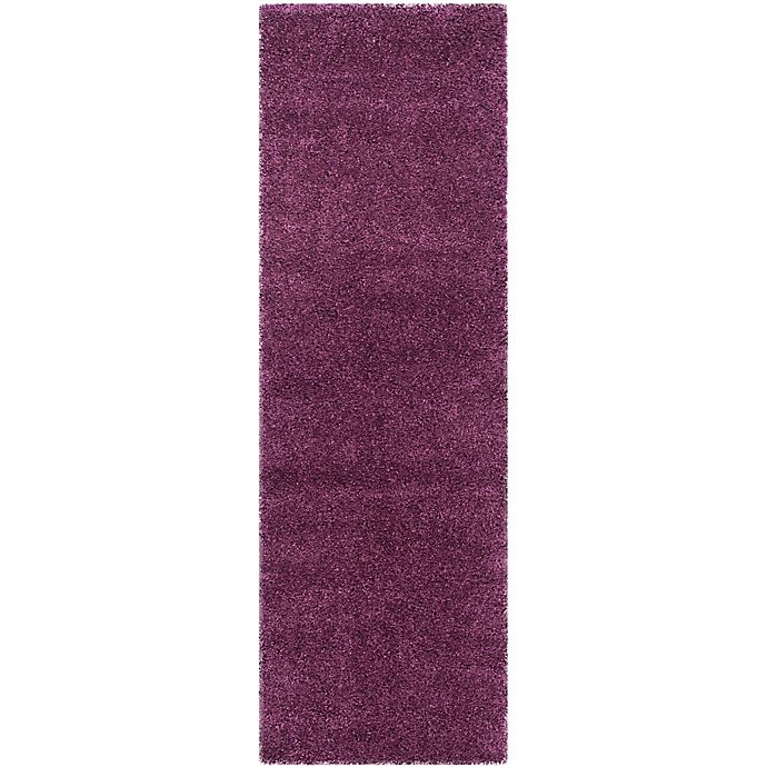 Alternate image 1 for Safavieh California Shag 2-Foot 3-Inch x 21-Foot Irvine Rug in Purple