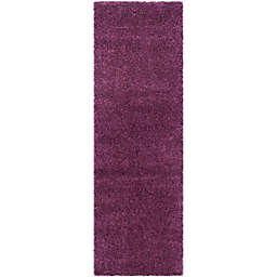 Safavieh California Shag 2-Foot 3-Inch x 21-Foot Irvine Rug in Purple
