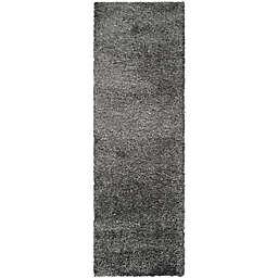 Safavieh California Shag 2-Foot 3-Inch x 21-Foot Irvine Rug in Dark Grey