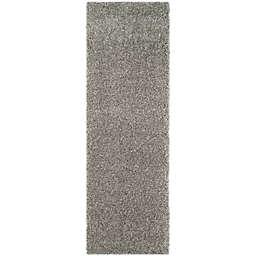 Safavieh California Shag 2-Foot 3-Inch x 21-Foot Irvine Rug in Silver