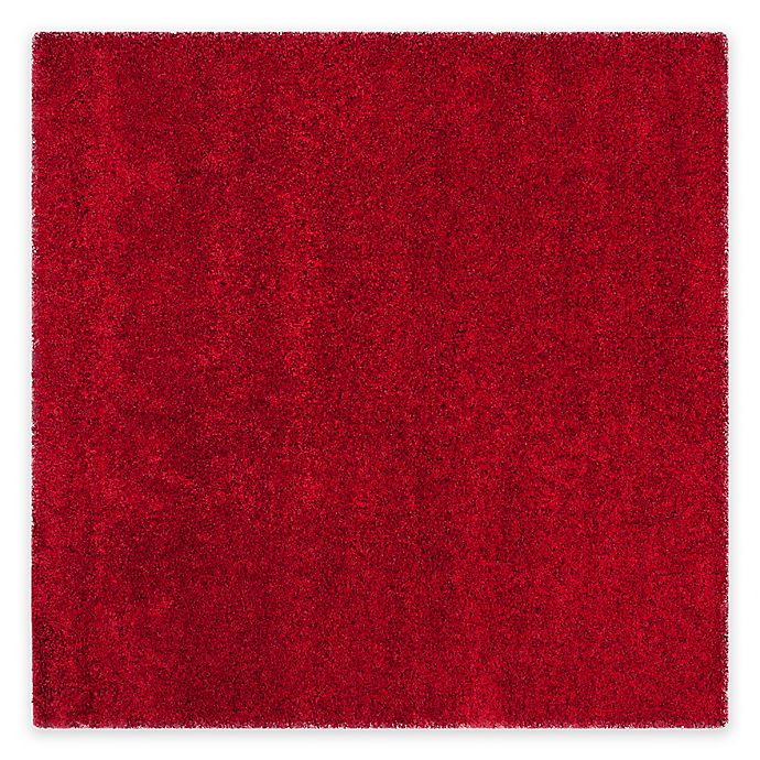 Alternate image 1 for Safavieh California Shag 4-Foot x 4-Foot Irvine Rug in Red