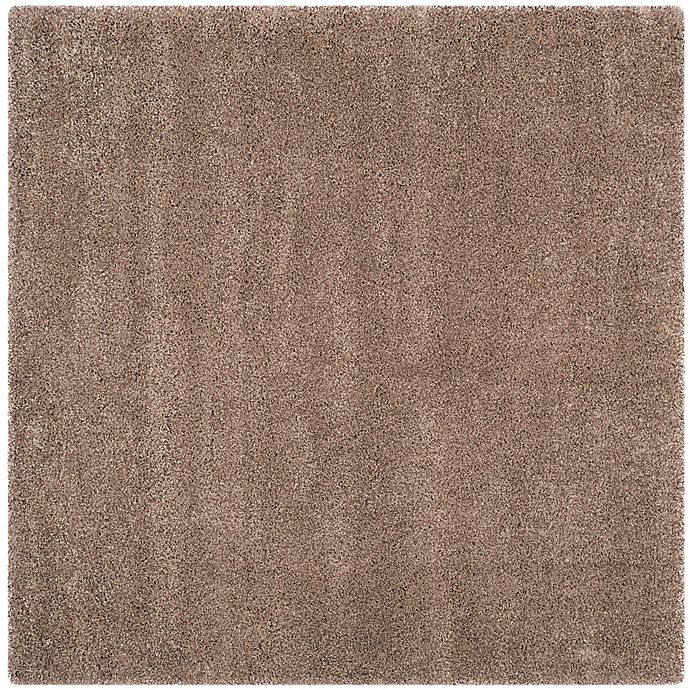 Alternate image 1 for Safavieh California Shag 4-Foot x 4-Foot Irvine Rug in Taupe